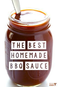 In my humble Kansas City opinion, this really is the best homemade BBQ sauce recipe! It's sweet, it's tangy, it's smoky, and it's perfect on just about everything. It is also naturally vegan and gluten-free (*see note below). Homemade Bbq Sauce Recipe, Barbecue Sauce Recipes, Smoker Recipes, Canning Recipes, Kansas City Bbq Sauce Recipe, Best Bbq Sauce Recipe, Vegan Bbq Sauce, Brisket Bbq Sauce Recipe, Honey Barbeque Sauce