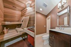 Downers Grove Basement Remodel with Sauna, Steam Shower, Office - Sebring Design Build Basement Remodel Diy, Basement Renovations, Home Remodeling, Basement Designs, Basement Ideas, Bathroom Remodeling, Basement Guest Rooms, Basement Bathroom, Hall Bathroom