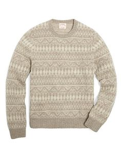 Shetland Tonal Fair Isle Crewneck Sweater | Brooks Brothers - The thought of wearing this at the moment is horrifying... only because it's 100 degrees outside