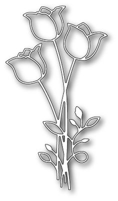 [99069] DIES- Tulip Bouquet