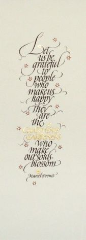 Let Us Be Grateful | Yukimi Annand: gouache and watercolor on Arches hot-press paper; applied 24k gold.