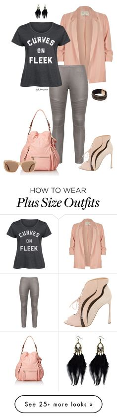 """On Fleek- plus size"" by gchamama on Polyvore featuring River Island, Bohème, LC Trendz, Sergio Rossi, Jessica Simpson, Tom Ford and plus size clothing"
