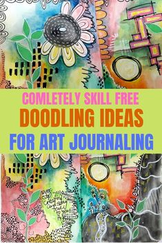 I don't know how to draw so I doodle! You don't need any special skills to doodle in your art journal. Check out these ideas for easy and simple shapes to add to your art journal page  #artjournal #doodling #technique #drawing #page