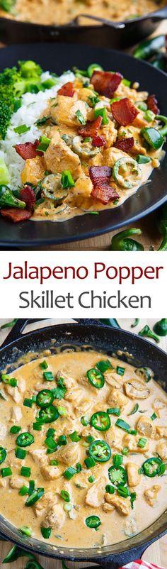 Jalapeno Popper Skillet Chicken
