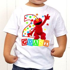 Elmo Sesame Street T-Shirt Elmo Birthday Shirt by TheMemoryMakers