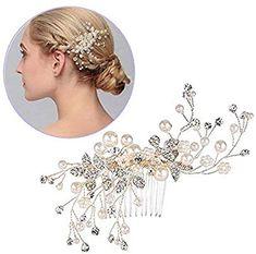 Capelli sposa accessori per forcine capelli per donne e ragazze di  cristallo da sposa pettine dei a2b259b1e72f
