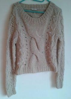 Kup mój przedmiot na #vintedpl http://www.vinted.pl/damska-odziez/swetry-z-dzianiny/15566375-pimkie-sweter-nude-gruby-warkocz-bezowy-ml