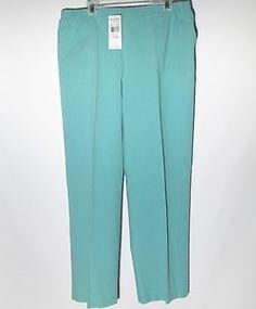 Alfred Dunner New Pants Size 20 Aqua (Blue)
