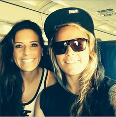 'Tampa here we come! Get ready!' - Ali Krieger and Ashlyn Harris. (Instagram) .