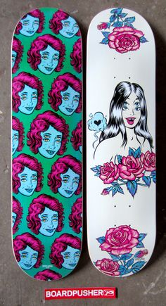 Hey, Four Eyes! Here's a couple more Featured Decks from Phil Guy of www.burritobreath.com.  Design your own skateboard graphics at www.BoardPusher.com.