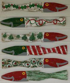 Christmas 2014 Fence Fish S/6: Beach House Decor, Coastal Decor, Nautical Decor, Coastal Living Boutique, Tropical Decor