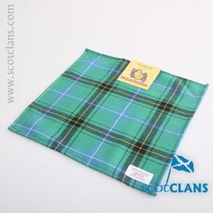 Henderson Ancient Tartan Pocket Square. Free worldwide shipping available