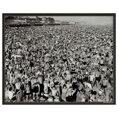 Art.com Coney Island 1945 Framed Wall Art, Black