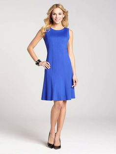 """Laura Petites: for women 5'4"""" and under. This multi-panel dress is a contemporary take on a revered classic. The fit"""