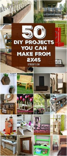 50 DIY Home Decor And Furniture Projects You Can Make From {With tutorial links and free plans} via Vanessa wood projects projects diy projects for beginners projects ideas projects plans Easy Woodworking Projects, Woodworking Furniture, Diy Wood Projects, Home Projects, Woodworking Plans, Popular Woodworking, Intarsia Woodworking, Woodworking Patterns, Repurposed Wood Projects