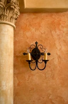 Like paint color and texture, sconce too