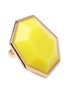 Color of the week: Yellow  Mulholland Drive Large Ring  by Kate Spade New York  www.AnaInStyle.com