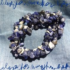 Sodalite Gem Chip Bracelet Stunning Stretch Bracelet of Sodalite Gem chips in various shades of Blues and Grays. Gorgeous with red, white or with a Denim blouse! Jewelry Bracelets