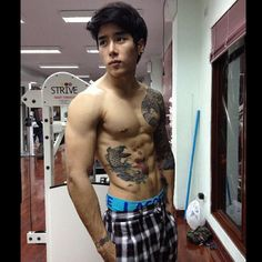 Sexy Asian Guy | Gym | Tattoo