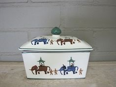 Working Elephants Butter Dish 1997 (Discontinued)