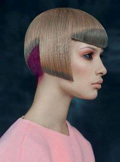Flawless! Fresh take on hair color art by Artyom Shichkin of Russia; Photog: Konstantin Sorokin #hairart #hotonbeauty #avantgarde hotonbeauty.com