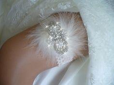 Boda, boda Liga, Liga nupcial, perlas, apliques, encaje de color rosa, Liga de encaje, Rhinestone, Liga Set, Organza de proa