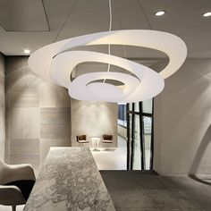160.00$  Watch here - http://aliikp.worldwells.pw/go.php?t=32733947737 - DIY 65cm White Color Hardware Modern Led Pendant Lights For Dining Kitchen Room Foyer Home Dec AC85-265V Hanging Pendant Lamp 160.00$