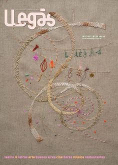 Embroidered cover for Buenos Aires magazine by Rita Smirna
