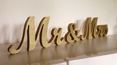 Gold glitter mr. & mrs. wedding signs for sweetheart by SunFla, $25.00