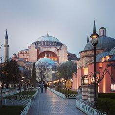 Approaching Hagia Sophia at dusk. #istanbul #hagiasofia #unescoworldheritagesite #livecolorfully #luxuryworldtraveler