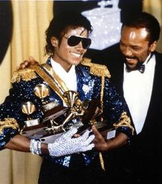 Michael at the Grammys!!!! He knew how to clean up on those.