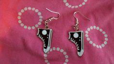 Black and White Sneaker Earrings by glitteringtreasures on Etsy,