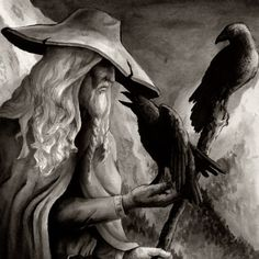 Odin was the Raven God because he had a pair of ravens as his constant companions. Odin let the ravens fly out in the morning to witness things in the cosmos. When dusk approached, the ravens would come back and perch on Odin's shoulder whispering into his ears knowledge and wisdom. Because of this, the ravens became a symbol of Odin, presenting his presence and mental power. Viking ravens were also the symbols of mystique and unpredictability. Viking Raven, Viking Warrior, Odin Symbol, Loki Son, Princess Stories, Viking Symbols, Knowledge And Wisdom, Ancient Artifacts, Custom Posters