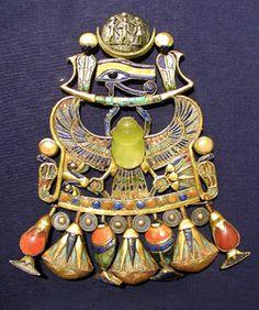 Altägyptischer Schmuck; Udjat-Auge; Fayence