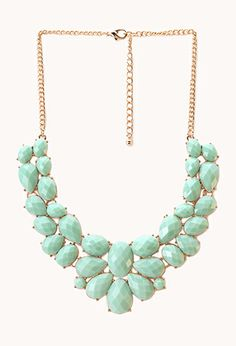 Femme Cluster Faux Stone Necklace | FOREVER21 - 1000089693-- Love the necklace for parties!!