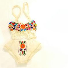 Maria Mexican Lingerie Embroidered I love this site. It's where I purchased my wedding dress. #MexicanWeddingIdeas