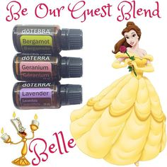 Disney Princess Essential Oil Blend Series  • This Be Our Guest Blend was inspired by another Disney favourite, Beauty and the Beast. This blend would be perfect to diffuse when you have company over. The oils help with uplifting the mood, confidence and relaxation. You and your guests will have a great time with this blend in your diffuser. • 3 drops Lavender 3 drops Bergamot 2 drops Geranium • Do you like entertaining friends and family? Are you interested in creating your own magic with…