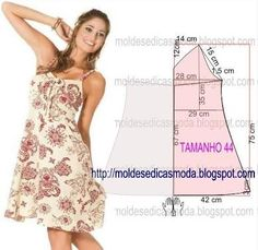 Simple patterns of beautiful summer dresses Fashion Sewing, Diy Fashion, Sewing Clothes, Diy Clothes, Clothing Patterns, Sewing Patterns, Costura Fashion, Make Your Own Clothes, Dress Making Patterns