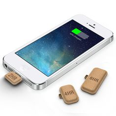 Disposable phone battery, environmentally friendly.