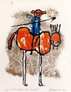 Jan van der Meulen - Don Kisjot | Staaldruk 45 x 35 cm € 180,- |   Expositie Jan van der Meulen 80 jaar bij Galerie Bax Kunst. Tachtig schilderijen in de Galerie, Kunstencentrum Atrium & Theater Sneek | www.baxkunst.nl | #art #contemporaryart #dutchartist #expo #Sneek #Baxkunst