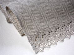 Hey, I found this really awesome Etsy listing at http://www.etsy.com/listing/150959960/gray-linen-table-runner-linen-and-lace