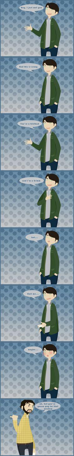 Grimm - Nick + Monroe - Hey, I just met you.. by ~Bisho-s on deviantART