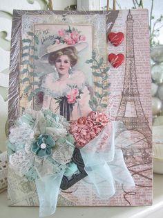 Valentine Gift Bag Handmade Gift Bag by AvantCarde on Etsy