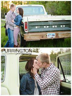 Old Ford truck in engagement wedding photos © Purrington Photography Bemidji Photographer