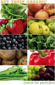 Foods to buy #Organic (they hold the most pesticides)
