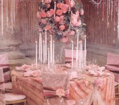 Valentine Tablescape - a little too much pink for me, but still beautiful.