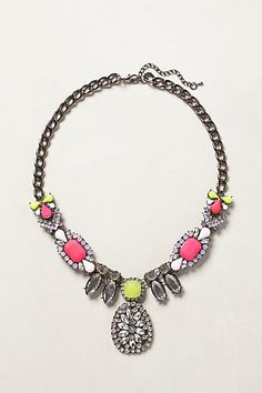 neon necklace from anthro
