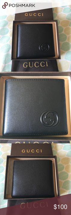 3b96c501741 Gucci Soho Black Leather Men Wallet New condition