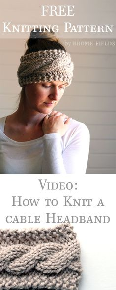 FRIENDSHIP : FREE Headband Knitting Pattern by Brome Fields
