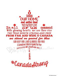 Canadian National Anthem, I Am Canadian, Cricut Canada, Canada Day Crafts, Random Things, All Things, Digital Word, Canada Maple Leaf, Gifts For Veterans